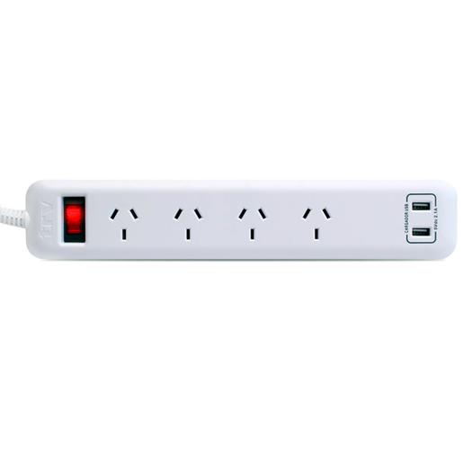 PROLONGADOR TRV 4 TOMAS + 2 USB
