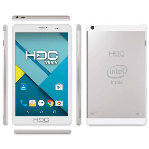 "TABLET HDC T800 8"" 8 GB BLANCO Y METAL"