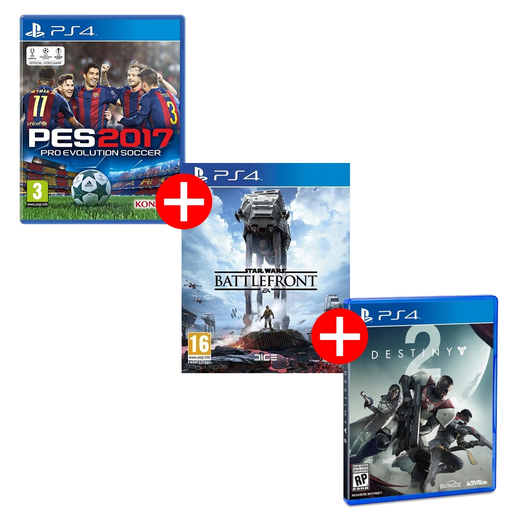 COMBO PS4 PES+DESTINY2+ST WARS